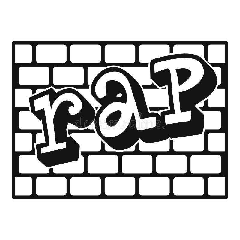 Icône de mur de briques de coup sec et dur, style simple illustration de vecteur