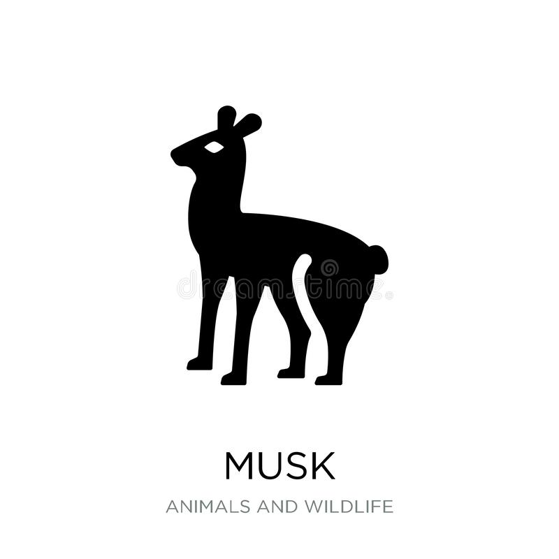 icône de musc dans le style à la mode de conception icône de musc d'isolement sur le fond blanc symbole plat simple et moderne d' illustration de vecteur