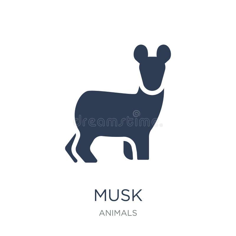 Icône de musc Icône plate à la mode de musc de vecteur sur le fond blanc de illustration stock