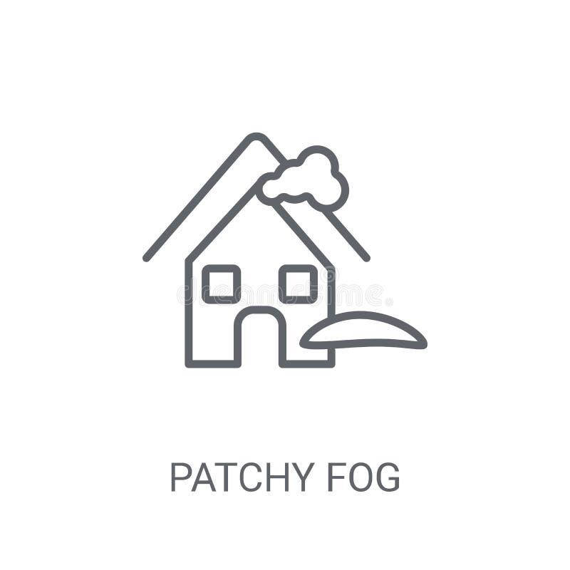 icône de nappes de brouillard Concept à la mode de logo de nappes de brouillard sur le backgro blanc illustration stock