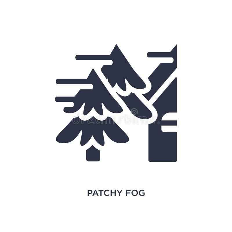 icône de nappes de brouillard sur le fond blanc Illustration simple d'élément de concept de temps illustration libre de droits