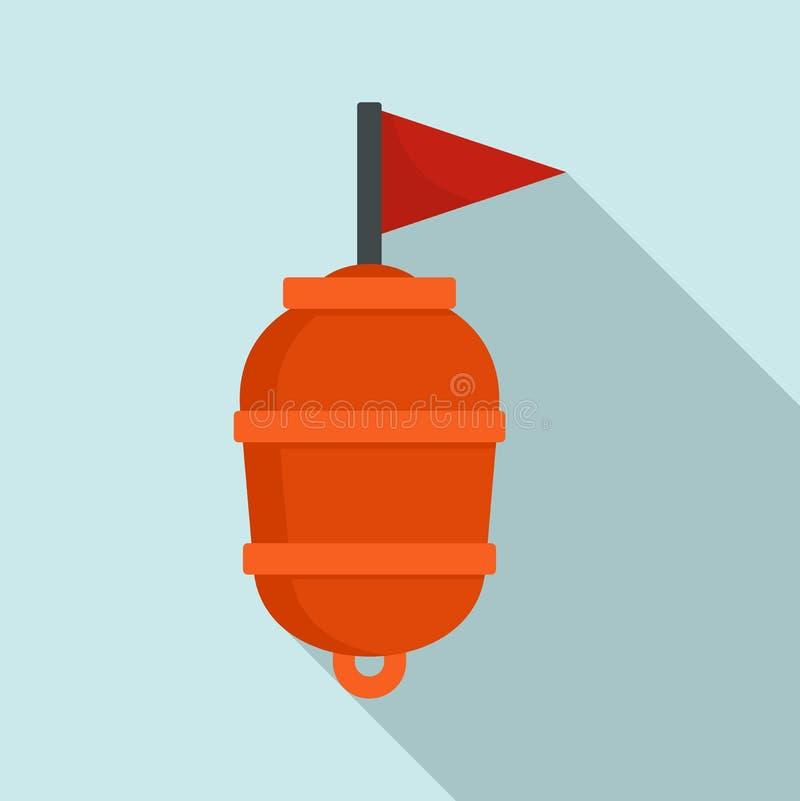 Icône de natation de balise de limite, style plat illustration libre de droits