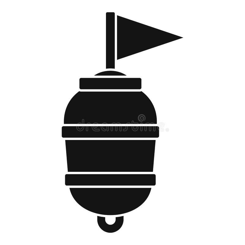 Icône de natation de balise de limite, style simple illustration de vecteur