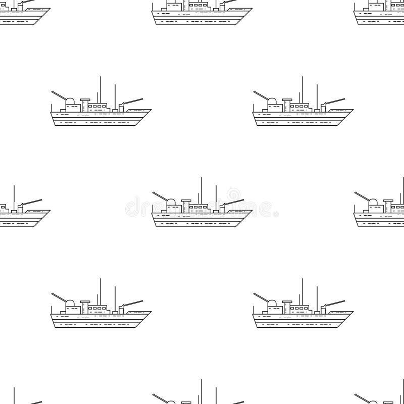 Icône de navire de guerre Élément d'icône d'armée pour les apps mobiles de concept et de Web Icône sans couture de navire de guer illustration de vecteur