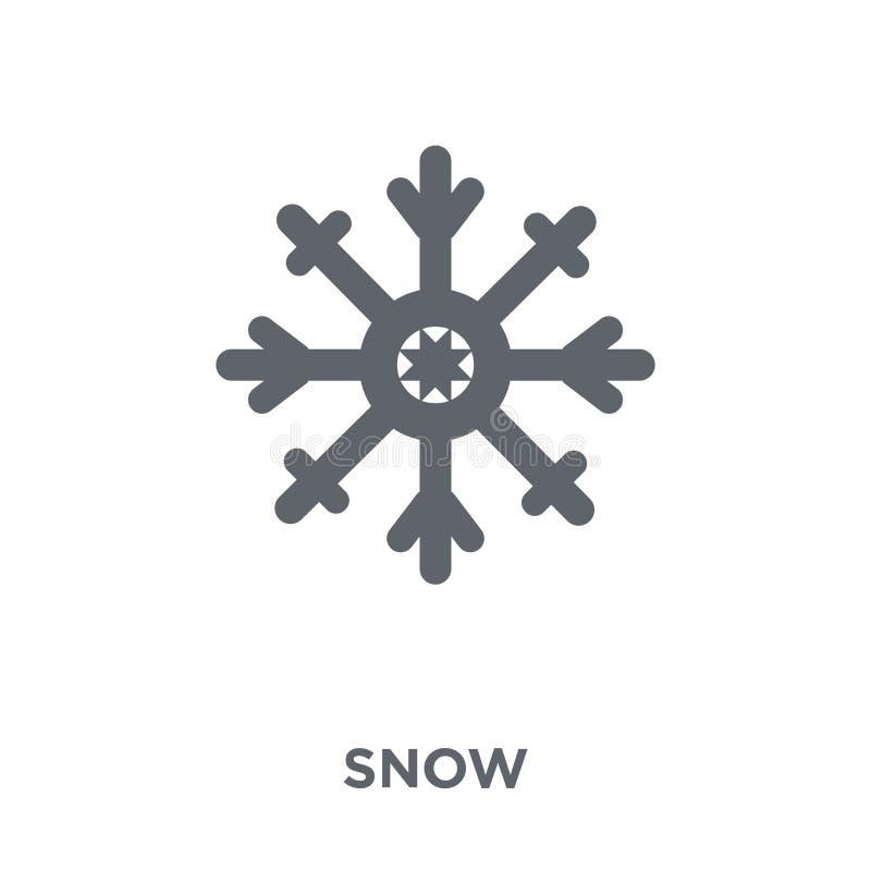 Icône de neige de collection illustration de vecteur