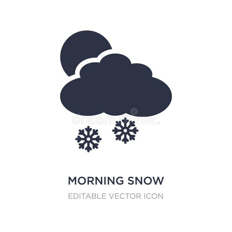 icône de neige de matin sur le fond blanc Illustration simple d'élément de concept de temps illustration de vecteur
