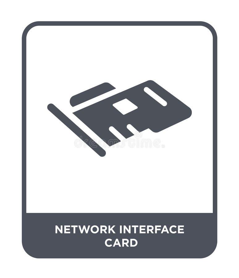 icône de network interface card dans le style à la mode de conception icône de network interface card d'isolement sur le fond bla illustration de vecteur