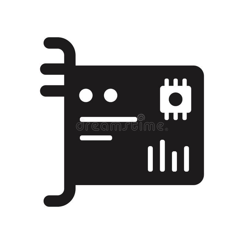 Icône de network interface card Logo à la mode de network interface card illustration libre de droits