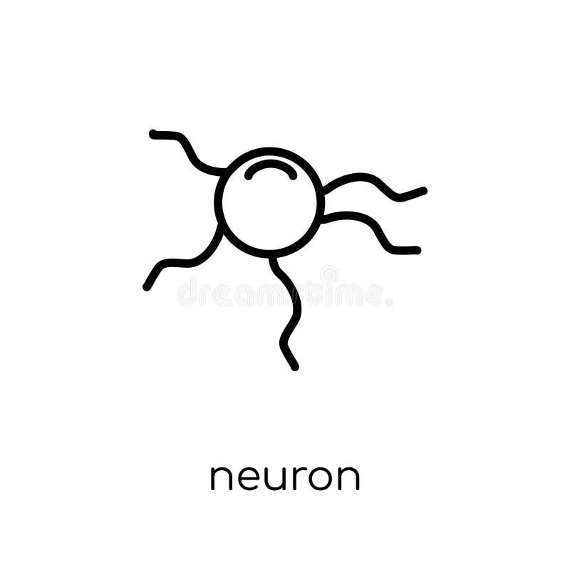 Icône de neurone Icône linéaire plate moderne à la mode de neurone de vecteur sur le whi illustration libre de droits