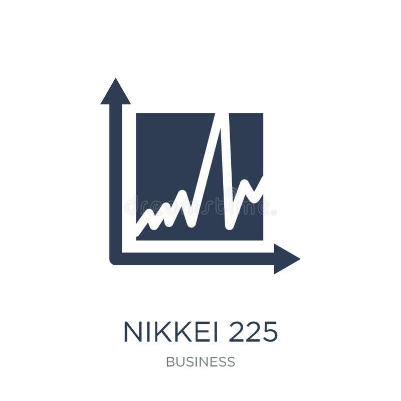 Icône de Nikkei 225 Icône plate à la mode de Nikkei 225 de vecteur sur le CCB blanc illustration stock