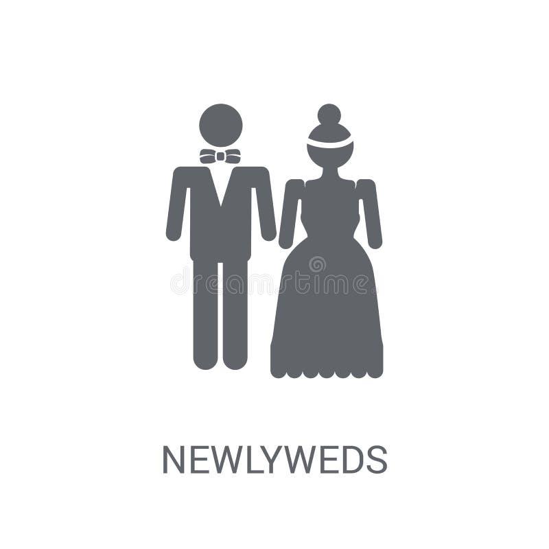 Icône de nouveaux mariés  illustration libre de droits