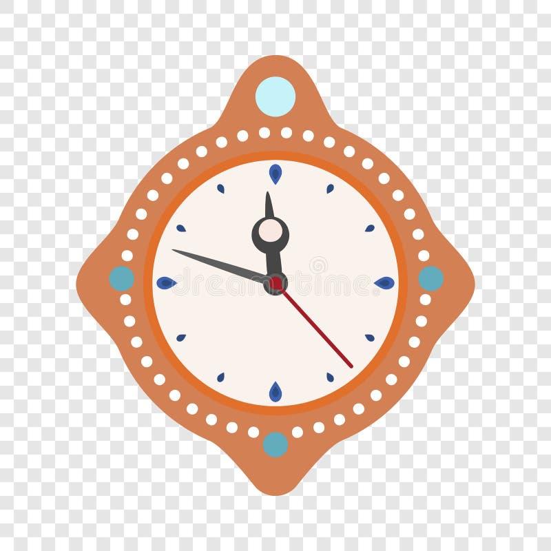 Icône de nouvelle année de temps d'horloge, style plat illustration de vecteur