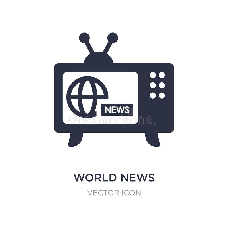 icône de nouvelles du monde sur le fond blanc Illustration simple d'élément de concept de technologie illustration de vecteur