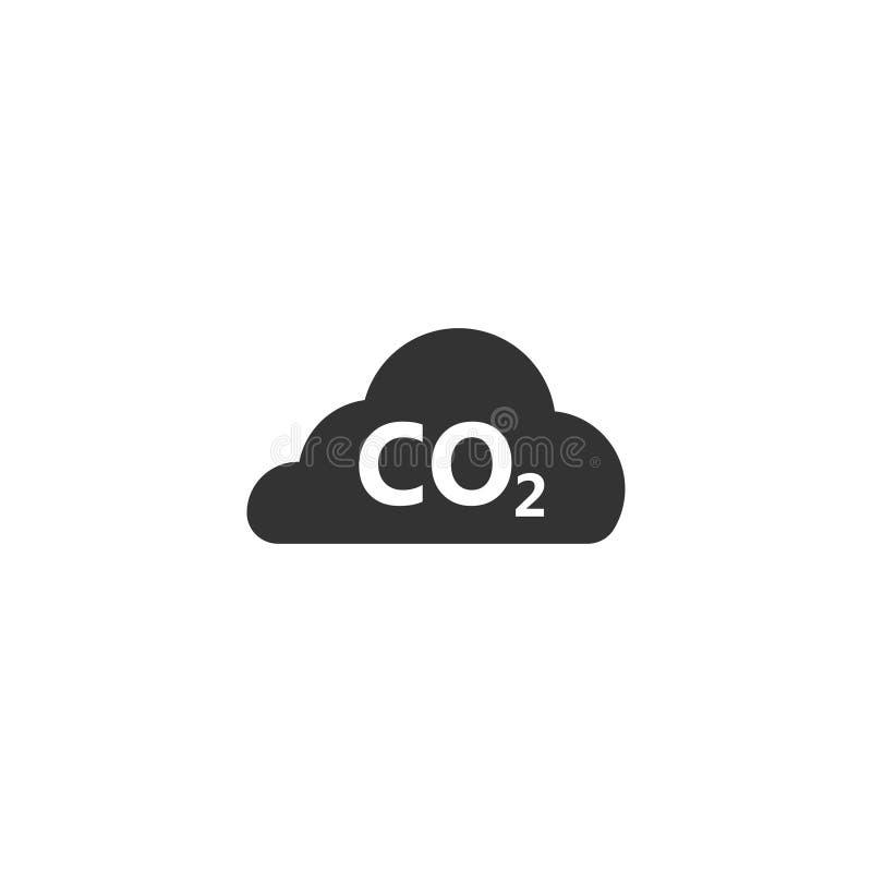 Icône de nuage de CO2 dans la conception simple Illustration de vecteur illustration de vecteur