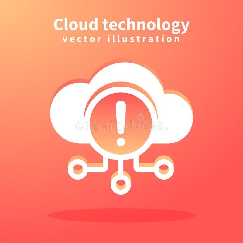 Icône de nuage, illustration de vecteur pour le web design Technologies de réseau, concept de calcul de nuage illustration libre de droits