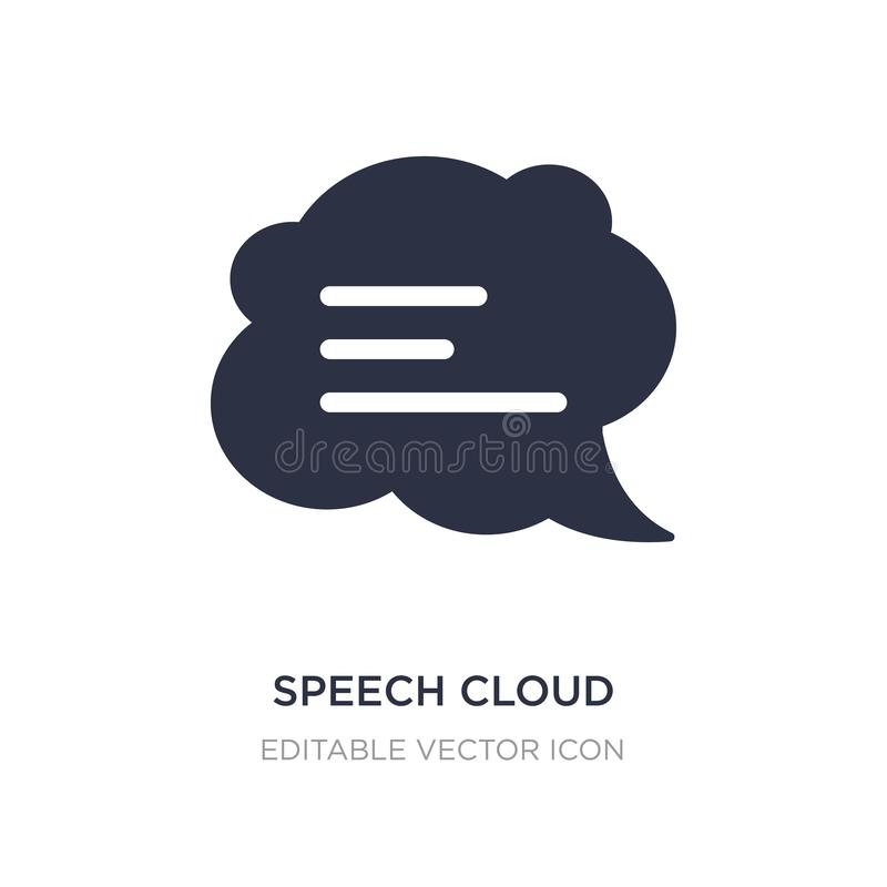 icône de nuage de la parole sur le fond blanc Illustration simple d'élément de concept de communications illustration stock