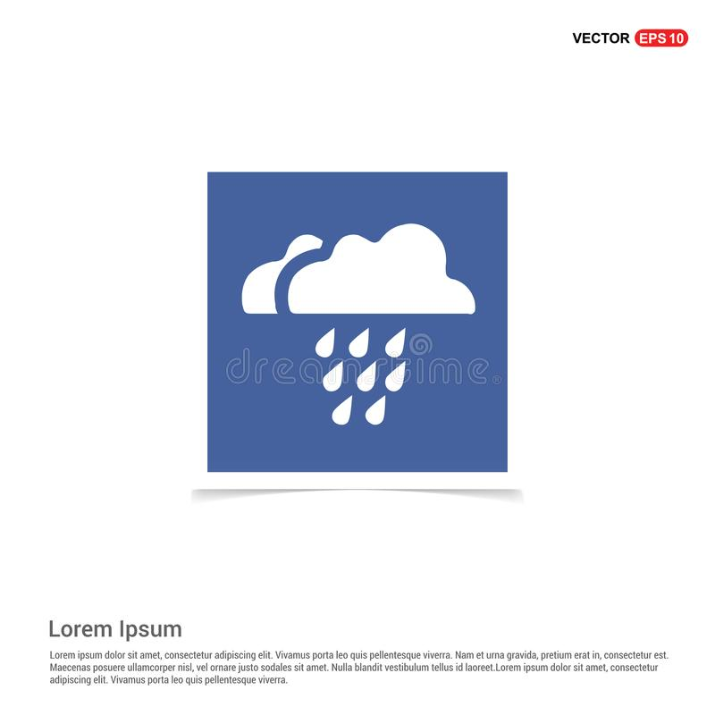 Icône de nuage de pluie - vue bleue de photo illustration stock
