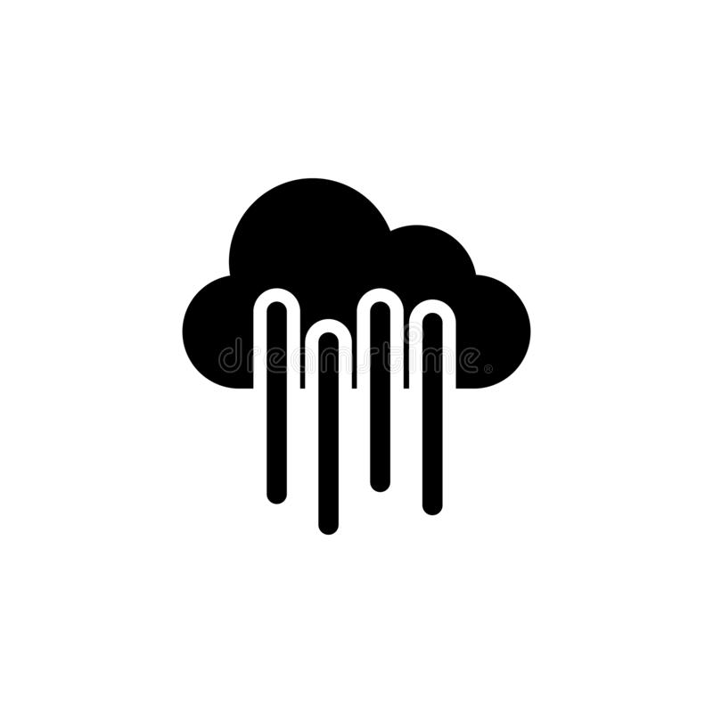 Icône de nuage de Rainly r Des signes et les symboles peuvent être employés pour le Web, logo, l'appli mobile, UI, UX illustration de vecteur