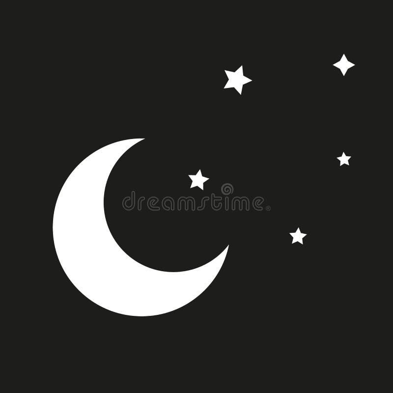 Icône de nuit dans le style plat à la mode d'isolement illustration libre de droits