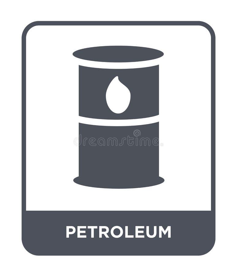 icône de pétrole dans le style à la mode de conception icône de pétrole d'isolement sur le fond blanc appartement simple et moder illustration stock