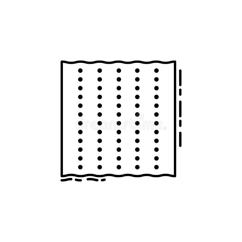 Icône de pain azyme Élément d'icône juive pour les apps mobiles de concept et de Web La ligne mince icône de pain azyme peut être illustration de vecteur