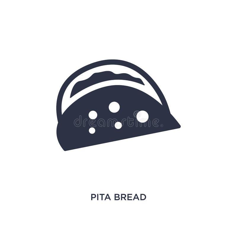 icône de pain pita sur le fond blanc Illustration simple d'élément de concept de Bistros et de restaurant illustration de vecteur