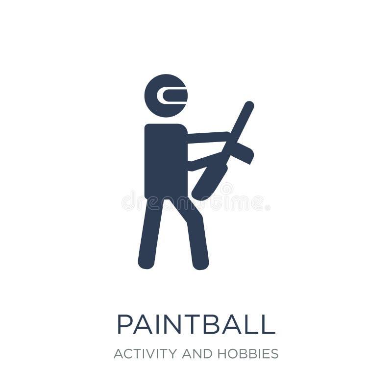 Icône de Paintball  illustration stock