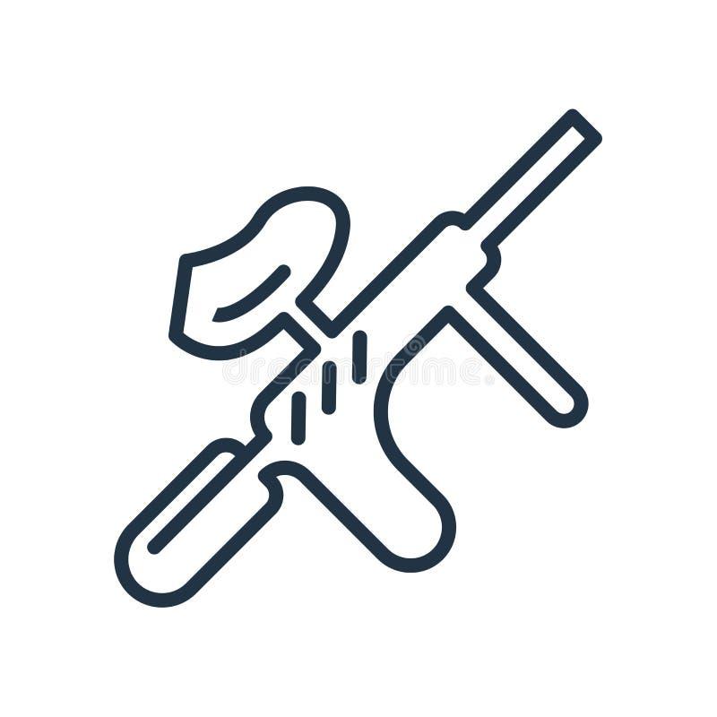 Icône de Paintball d'isolement sur le fond blanc, signe de Paintball illustration stock