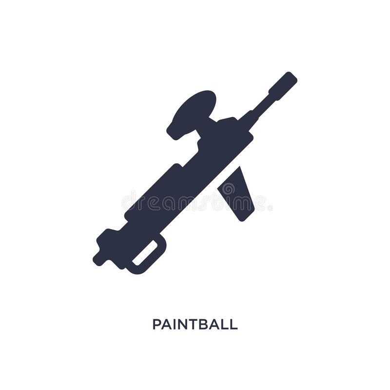 icône de paintball sur le fond blanc Illustration simple d'élément de concept de temps libre illustration stock