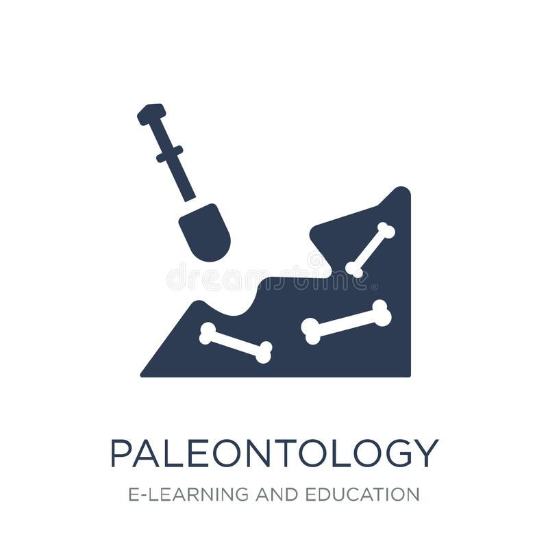 Icône de paléontologie Icône plate à la mode de paléontologie de vecteur sur le blanc illustration libre de droits