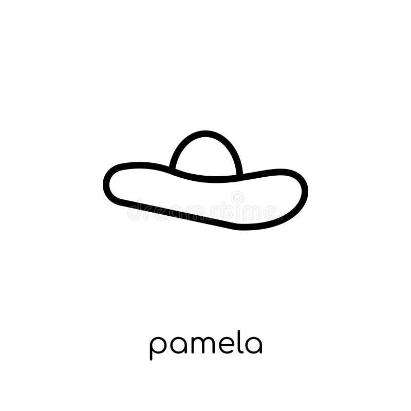 Icône de Pamela de collection illustration stock