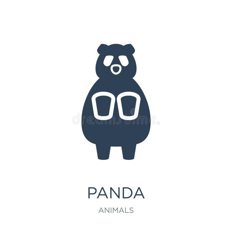icône de panda dans le style à la mode de conception icône de panda d'isolement sur le fond blanc symbole plat simple et moderne  illustration libre de droits
