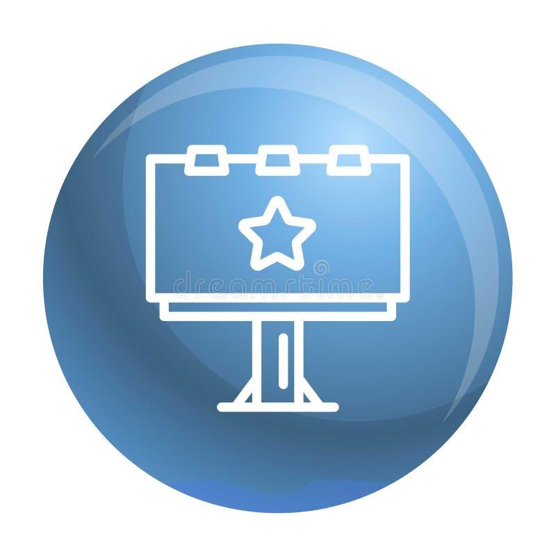 Icône de panneau d'affichage, style d'ensemble illustration de vecteur