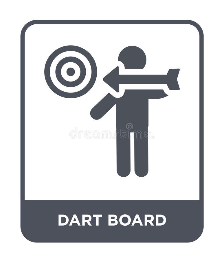 icône de panneau de dard dans le style à la mode de conception Icône de panneau de dard d'isolement sur le fond blanc icône de ve illustration libre de droits