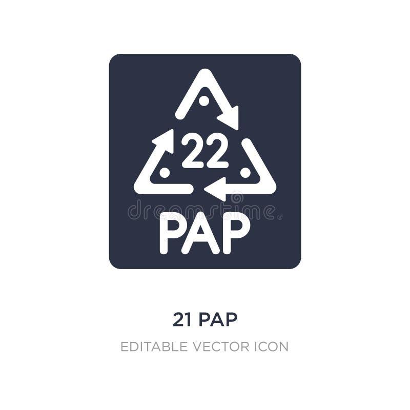 icône de 21 PAP sur le fond blanc Illustration simple d'élément de concept d'UI illustration libre de droits