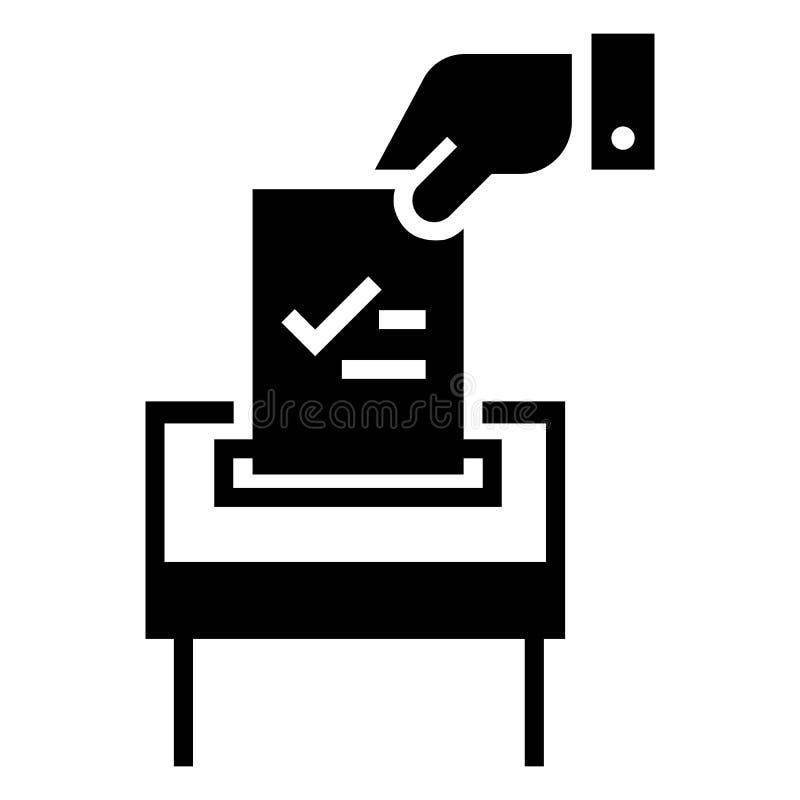 Icône de papier d'élection, style simple illustration de vecteur