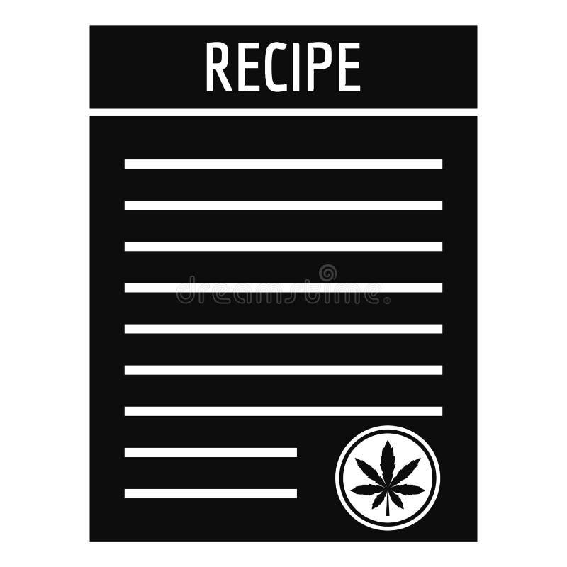 Icône de papier de marijuana de recette, style simple illustration stock