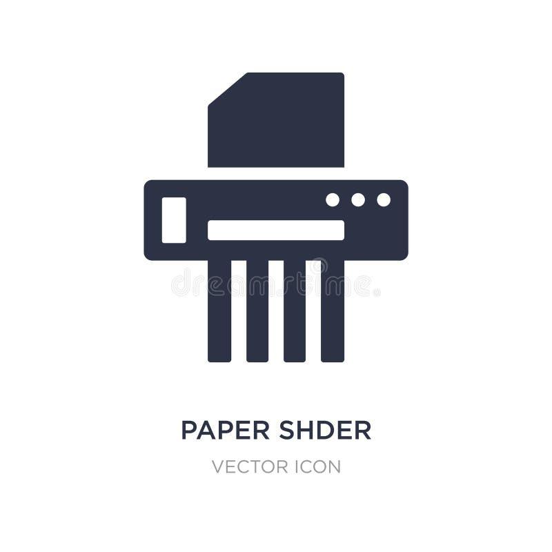 icône de papier de shder sur le fond blanc Illustration simple d'élément de concept d'affaires et d'analytics illustration libre de droits