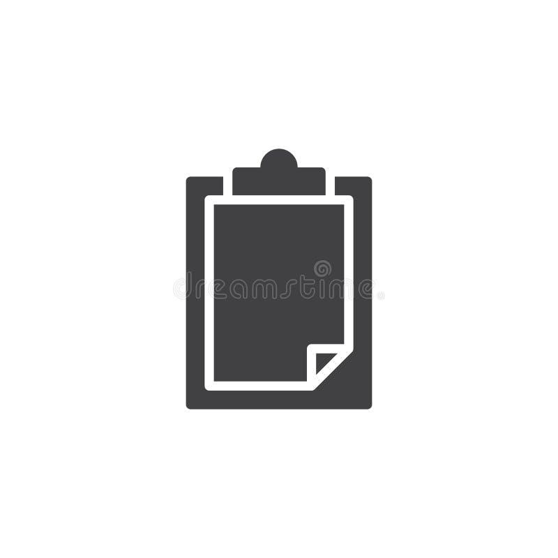 Icône de papier de vecteur de presse-papiers illustration stock