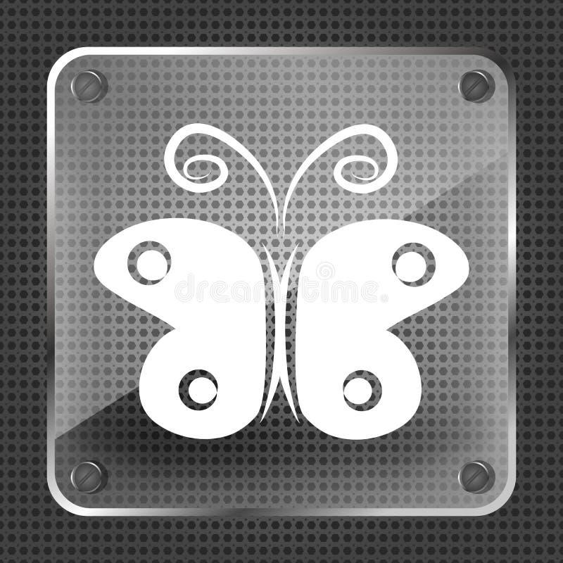 Icône de papillon illustration libre de droits