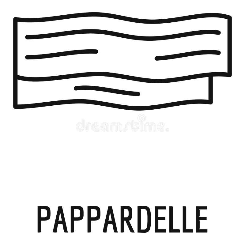 Icône de Pappardelle, style d'ensemble illustration libre de droits