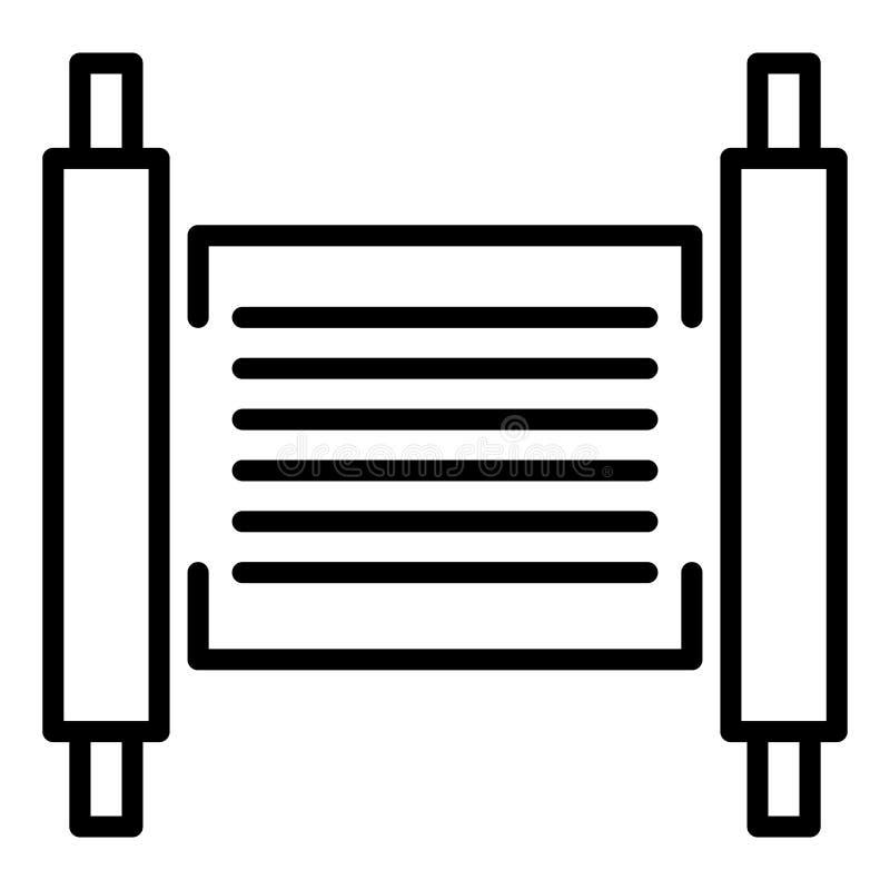 Icône de papyrus de Torah, style d'ensemble illustration de vecteur