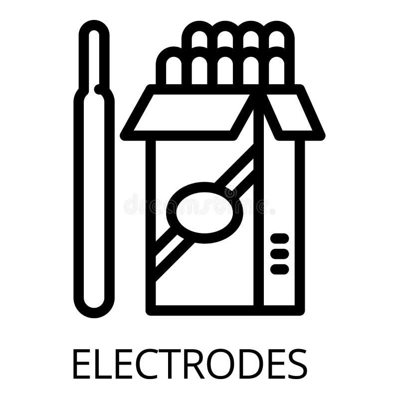 Icône de paquet d'électrode, style d'ensemble illustration stock
