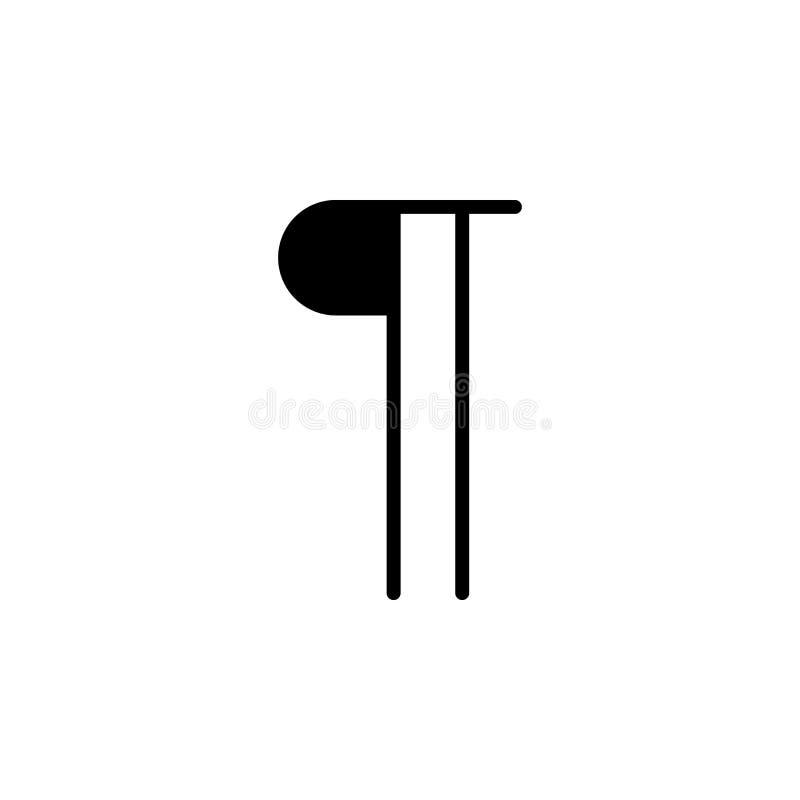 Icône de paragraphe Peut être employé pour le Web, logo, l'appli mobile, UI, UX illustration de vecteur