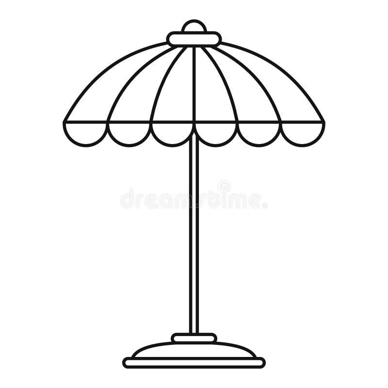 Icône de parapluie de piscine, style d'ensemble illustration de vecteur