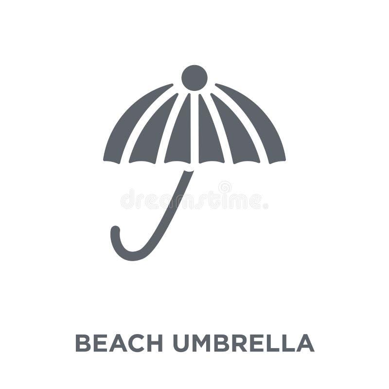 Icône de parapluie de plage de collection illustration libre de droits