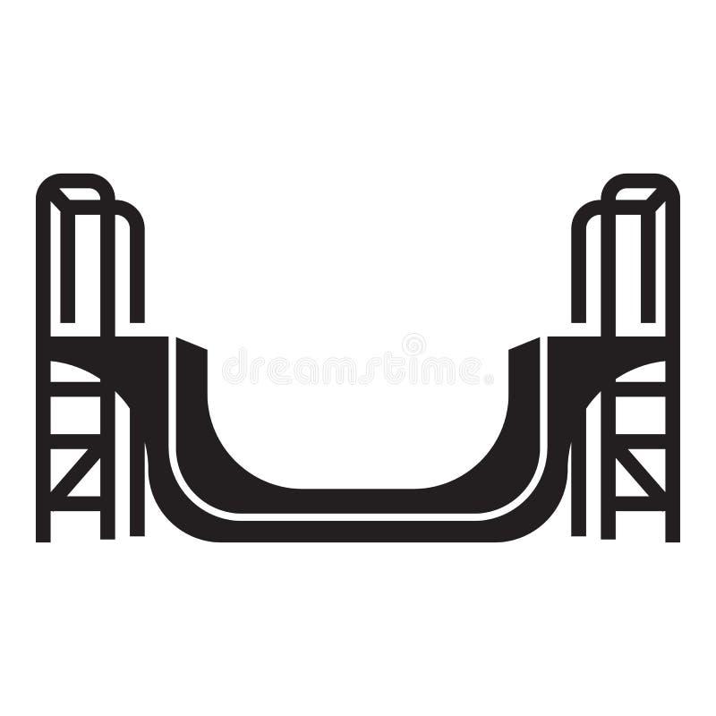 Icône de parc de patin, style simple illustration de vecteur