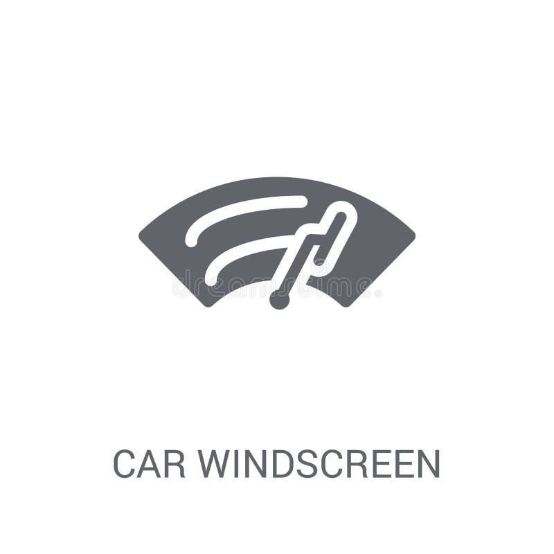 icône de pare-brise de voiture  illustration stock