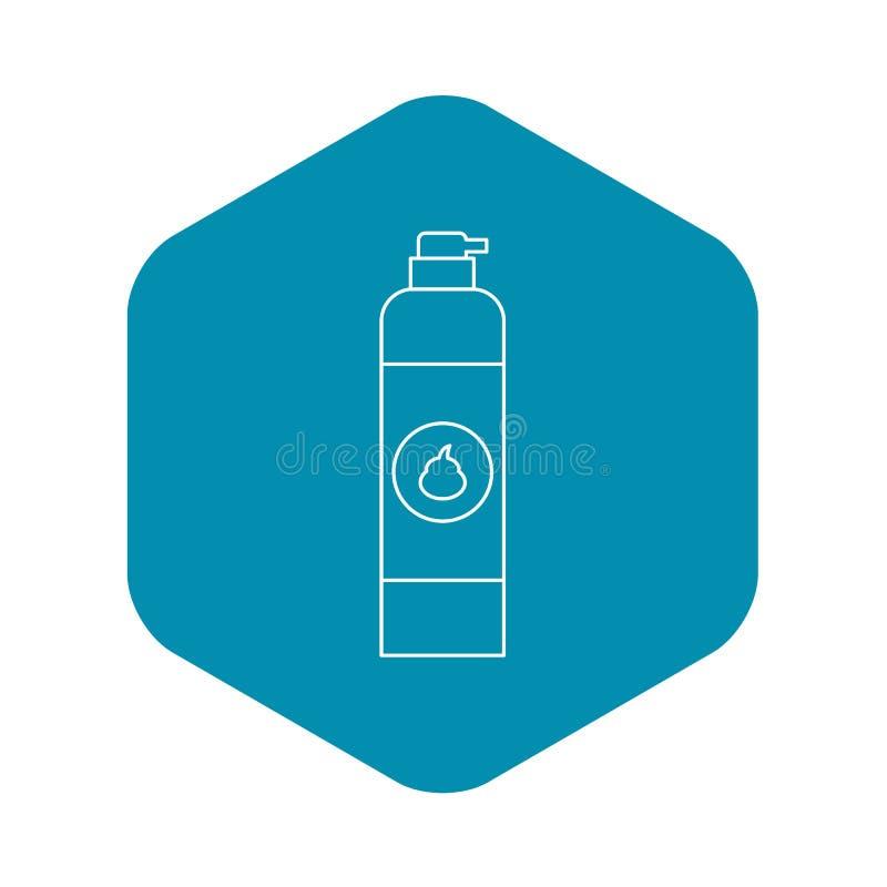 Icône de parfum d'ambiance, style d'ensemble illustration stock