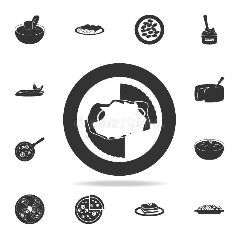 icône de parmesan de poulet Ensemble détaillé d'illustrations italiennes de nourritures Icône de la meilleure qualité de concepti illustration de vecteur